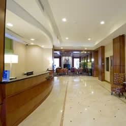 Full Service hotel reception area